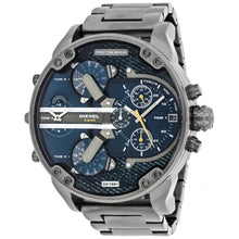 DIESEL | Gunmetal / Blue Denim Mr. Daddy 2.0 Men's Chronograph Watch | DZ7331