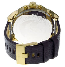 DIESEL | Gold / Black Leather | Mr. Daddy 2.0 Men's Chronograph Watch | DZ7371