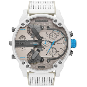 DIESEL | White / Silver Mr. Daddy 2.0 Men's Chronograph Watch | DZ7419