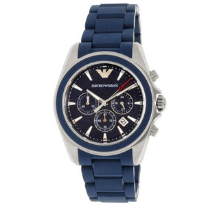 EMPORIO ARMANI | Midnight Blue / Silver Men's Chronograph Watch | AR6068