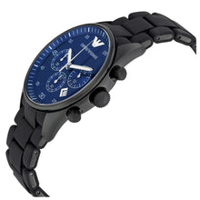 EMPORIO ARMANI | Black / Midnight Blue Men's Chronograph Watch | AR5921