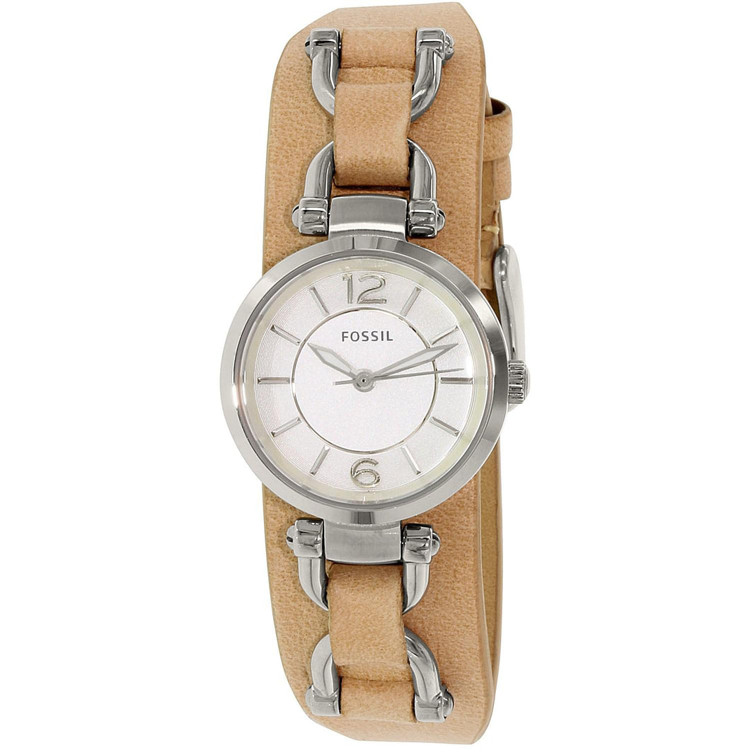 FOSSIL | White / Silver / Sand Leather Artisan Ladies Watch | ES3854