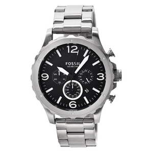 FOSSIL | Black / Silver 'Nate' Men's Watch | JR1468