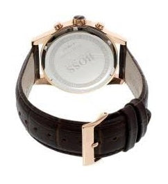 HUGO BOSS | Grey / Gold / Brown Leather Men's Jet Watch | 1513281