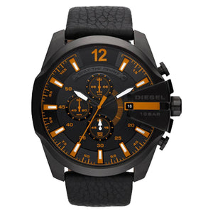 DIESEL | Chronograph Black / Orange Men's Watch | DZ4291