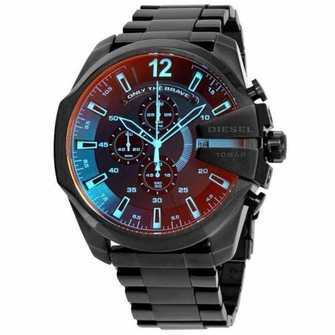 DIESEL | Black / Iridescent Mega Chief Men's Chronograph Watch | DZ4318