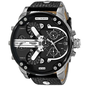 DIESEL | Black / Silver Mr Daddy 2.0 Men's Chronograph Watch | DZ7313