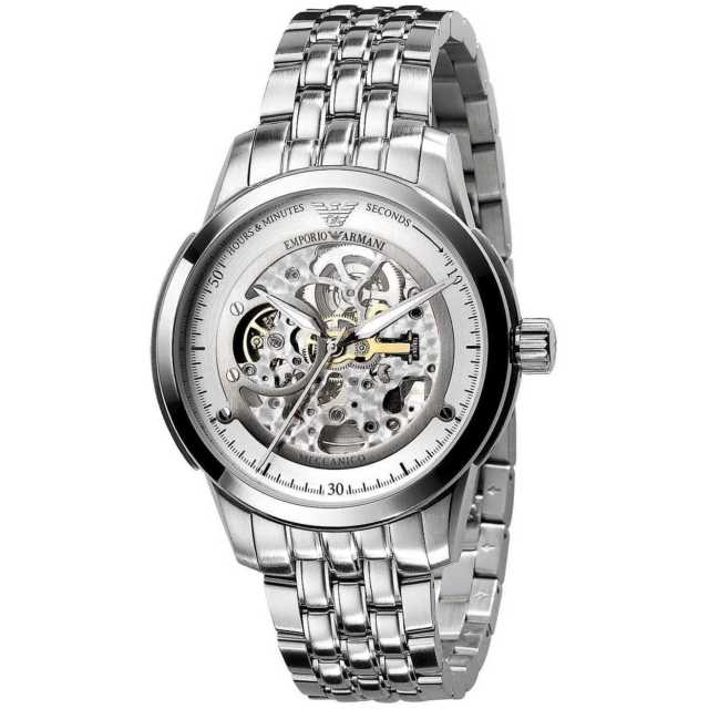 EMPORIO ARMANI | White / Silver Meccanico Men's Watch | AR4626