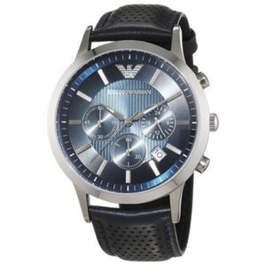 EMPORIO ARMANI | Navy Blue / Midnight Blue / Black Chronograph Watch | AR2473