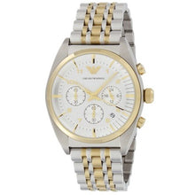 EMPORIO ARMANI | White / Silver / Gold Men's Chronograph Watch | AR0396
