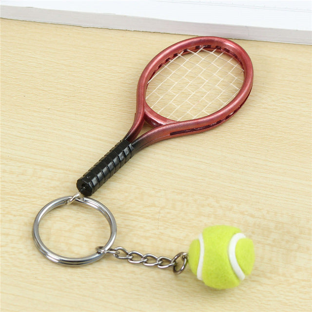 6 colors mini tennis racket pendant keychain tennisamour 6 colors mini tennis racket pendant keychain mozeypictures Image collections