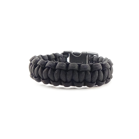 Cobra Stitch Survival Bracelet Black