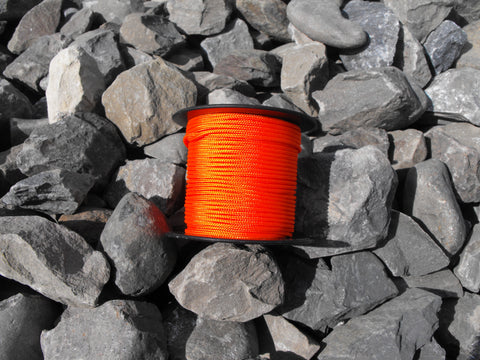 NEW! Fish 'n Fire Orange & Black Type III 550 Survival Paracord