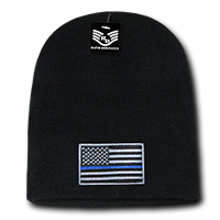 Rapid Dominance Thin Blue Line Collection USA Flag Beanie