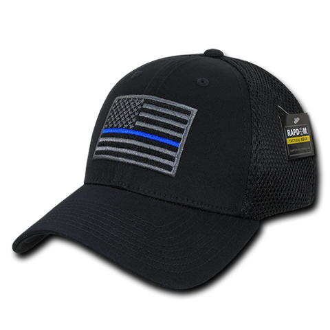 Rapid Dominance Thin Blue Line Collection Embroidered FlexFit Operator Cap
