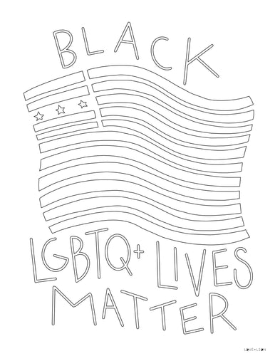 LGBTQ+ COLORING SHEET | DOWNLOAD