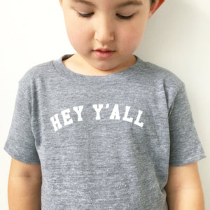 HEY Y'ALL TEE <p style=font-size:12px>*more colors</p>