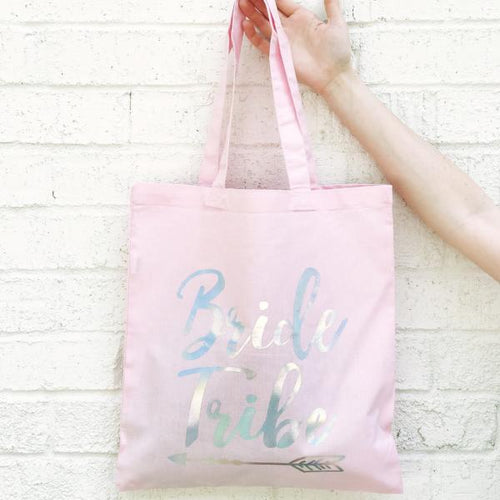 BRIDE TRIBE HOLOGRAPHIC TOTE