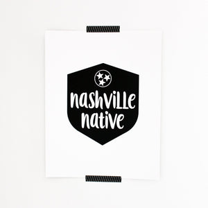 NASHVILLE NATIVE LETTERPRESS PRINT