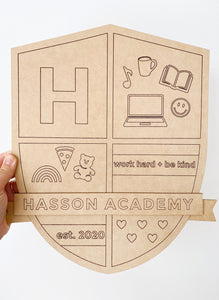 CUSTOM HOMESCHOOL CREST | WOOD PLAQUE