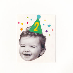 BIRTHDAY HAT PHOTO <p style=font-size:12px>*more colors</p>