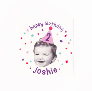 BIRTHDAY STARS PHOTO <p style=font-size:12px>*more colors</p>