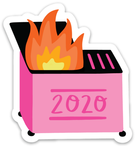 DUMPSTER FIRE | STICKER | PINK *BACK IN STOCK DECEMBER 5 AT 10:00AM CST
