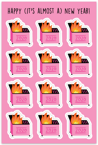 DUMPSTER FIRE | TEENY STICKERS *BACK IN STOCK DECEMBER 5 AT 10:00AM CST