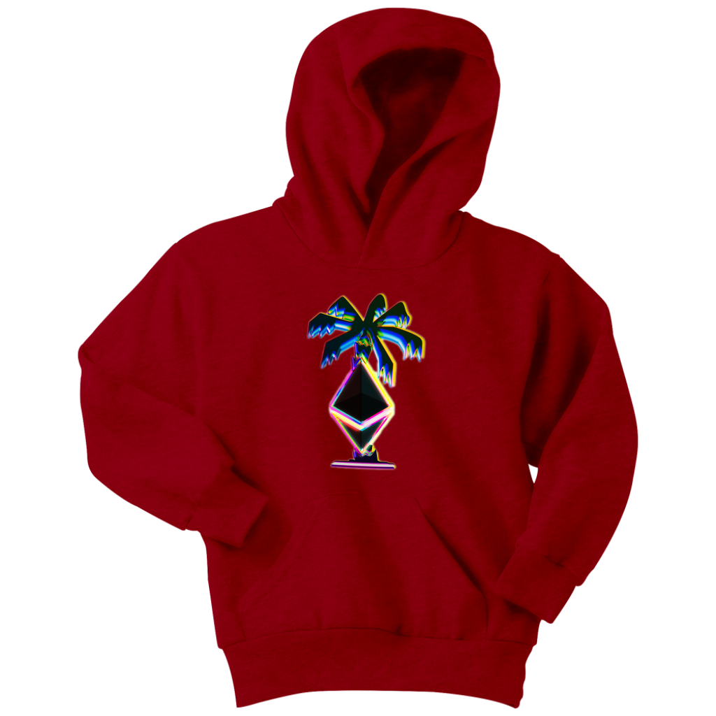 3D Ethereum Palm Tree Youth Hoodie