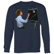 Bob Ross Crypto Night Painting Sweatshirt
