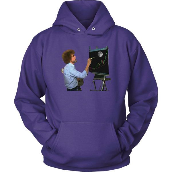 Bob Ross Crypto Night Painting Hoodie
