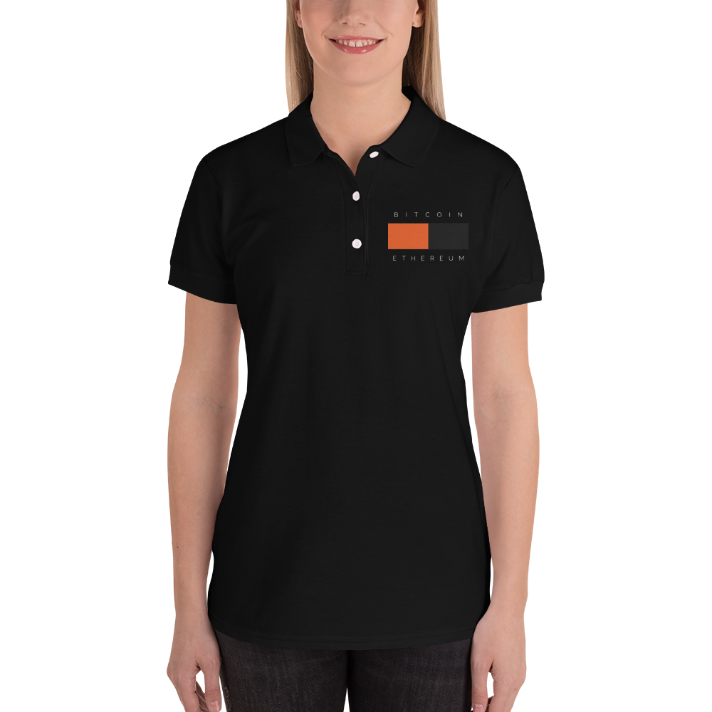 Bitcoin - Ethereum Embroidered Women's Polo Shirt