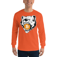 Bitcoin Grizzly Bear Long Sleeve T-Shirt