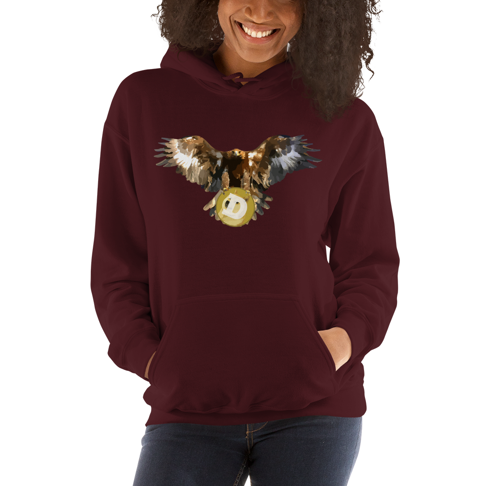 Bald Eagle Dogecoin Women's Hoodie