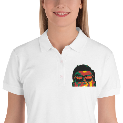 J.F.K Crypto - Cash Green Edition Embroidered Women's Polo Shirt