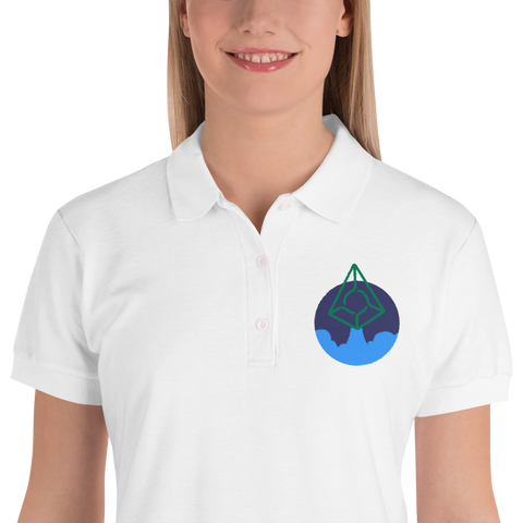 Rocket Augur Embroidered Women's Polo Shirt