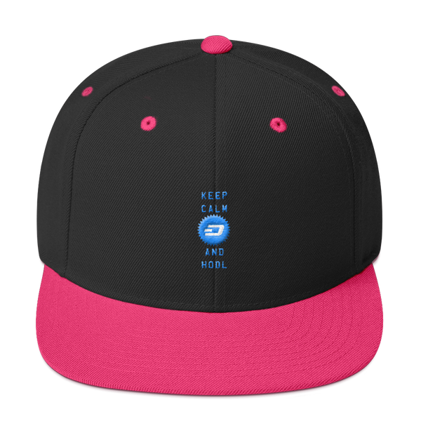 Keep Calm And Hodl Dashcoin Snapback Hat
