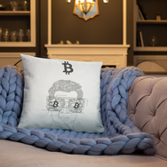 Bitcoin Dude - Bitcoin Throw Pillow