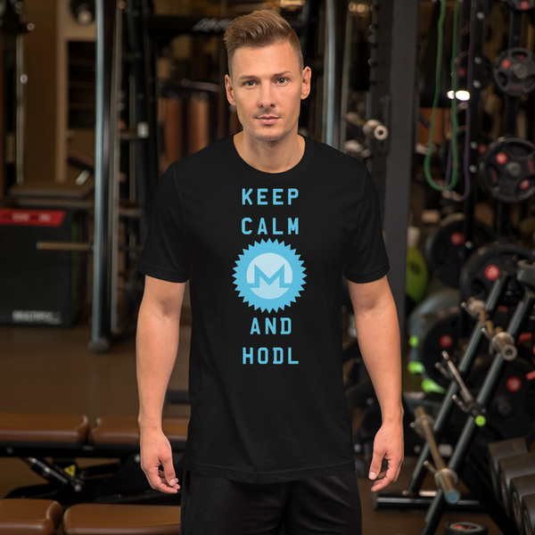 Keep Calm And Hodl Monero Short-Sleeve T-Shirt
