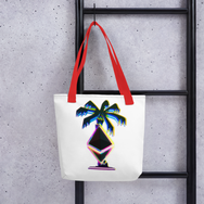 3D Ethereum Palm Tree Tote Bag