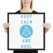 Framed Keep Calm And Hodl Augur Poster