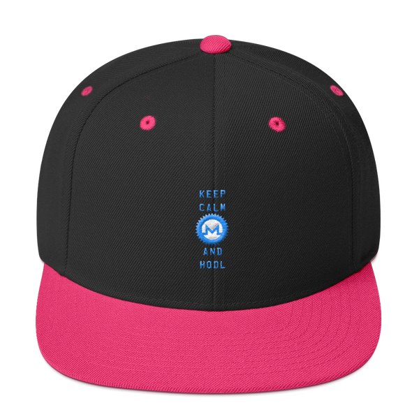 Keep Calm And Hodl Monero Snapback Hat