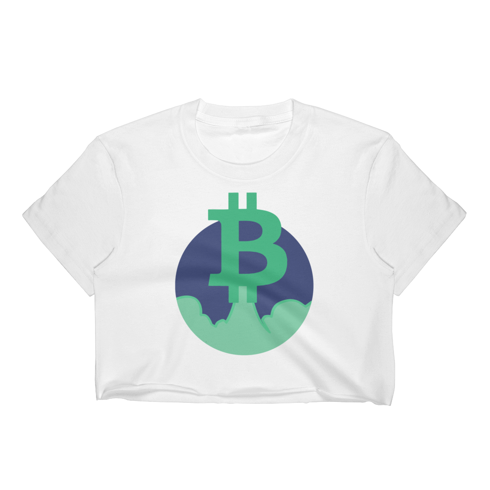Rocket Bitcoin Women's Crop Top