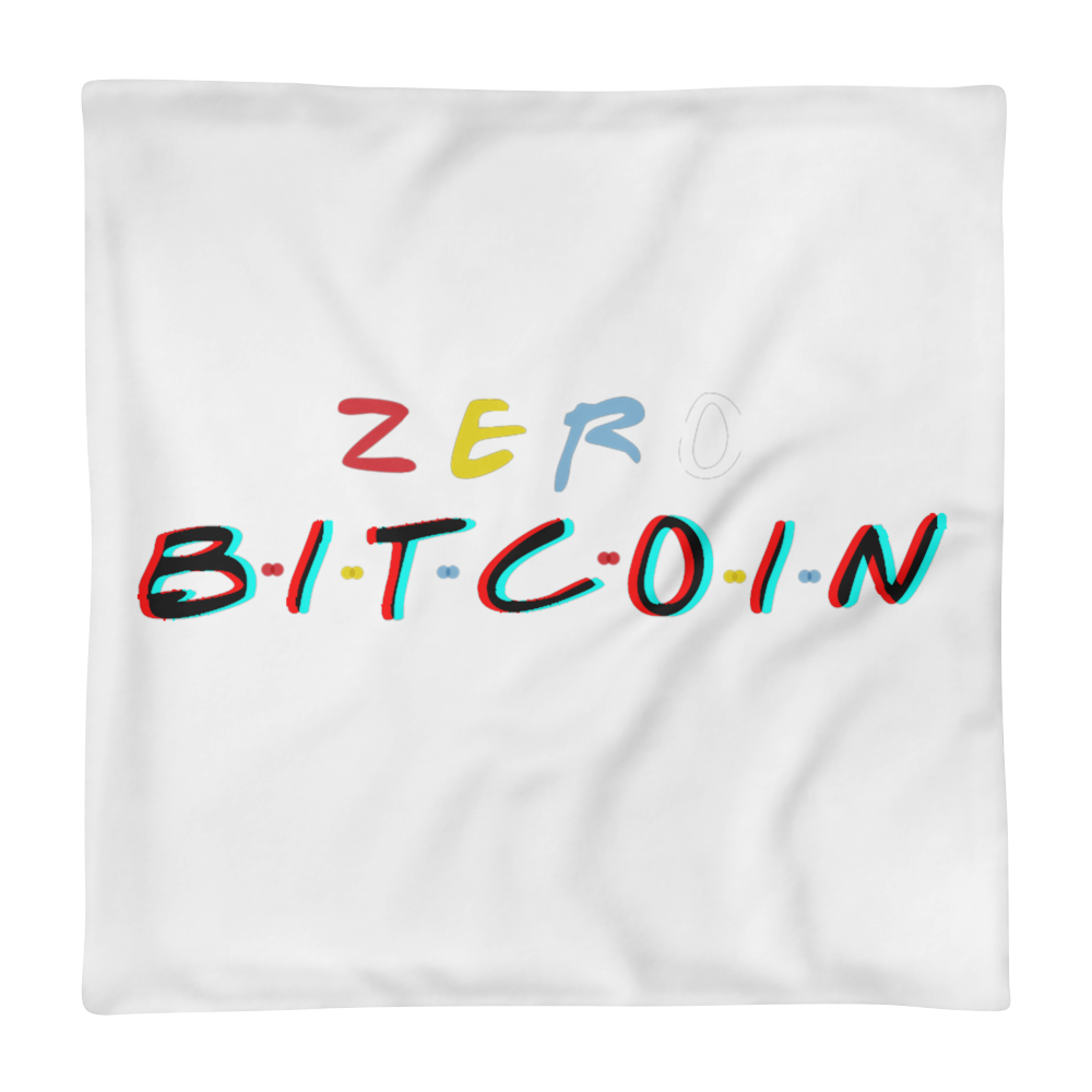 Zero Bitcoin - 3D Edition Pillow Case