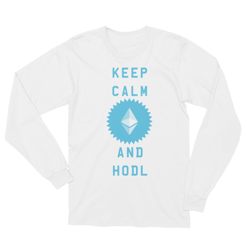 Keep Calm And Hodl Ethereum Women's Long Sleeve T-Shirt