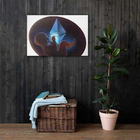 Ethereum Space Baby Canvas
