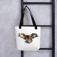 Bald Eagle Bitcrystals Tote Bag