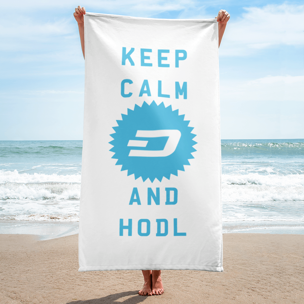 Keep Calm and HODL Dashcoin Towel