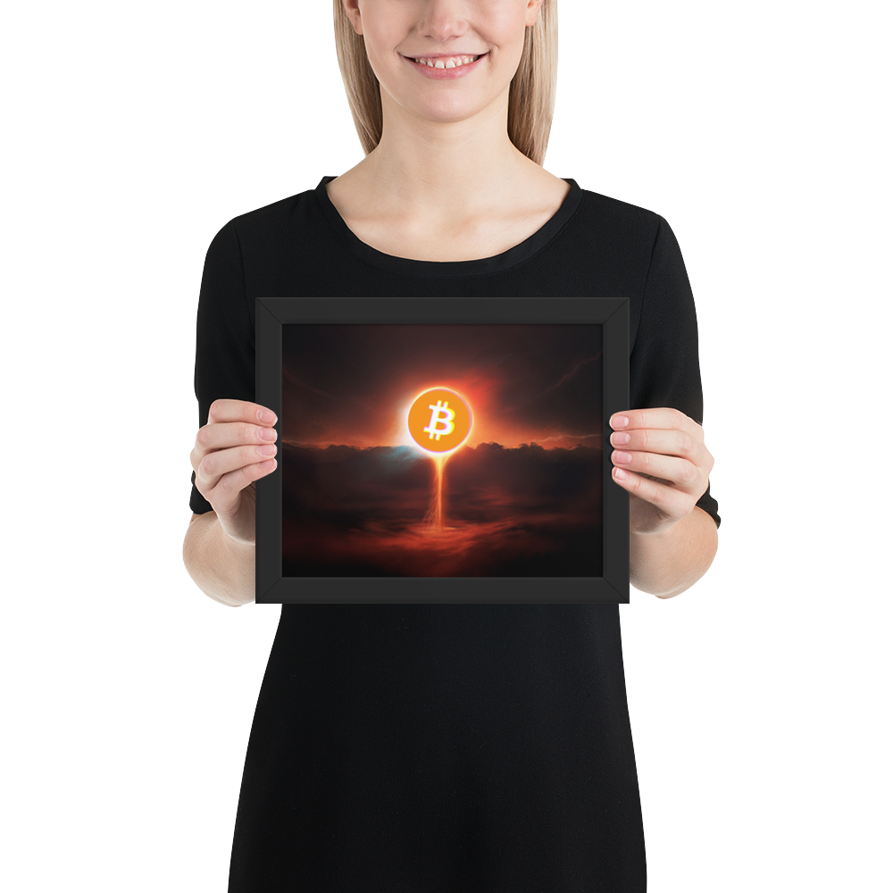 Framed Doomsday 3D Bitcoin Poster