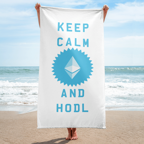 Keep Calm and HODL Ethereum Towel